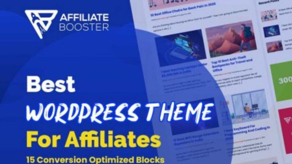 5 best wordpress theme for amazon affiliate marketing-Affiliate Booster