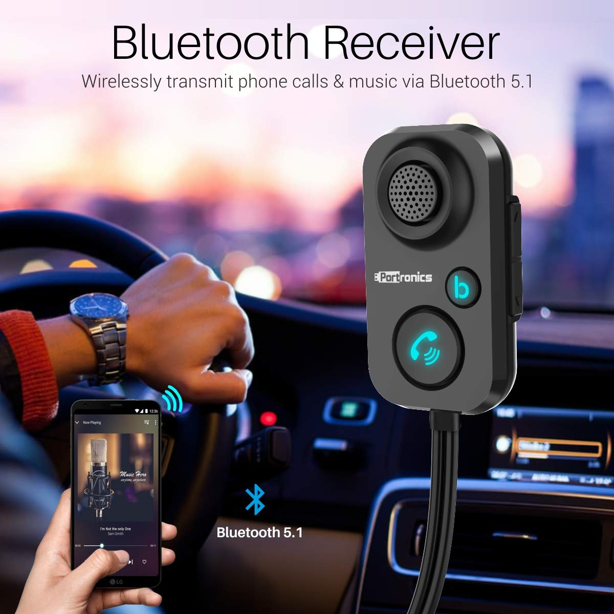 Amazing Portronics AUTO Best Bluetooth Adapter for car In India