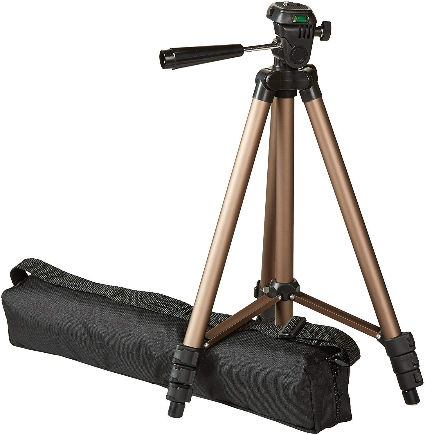 AmazonBasics Lightweight Best Tripod Stand For Mobile with Bag