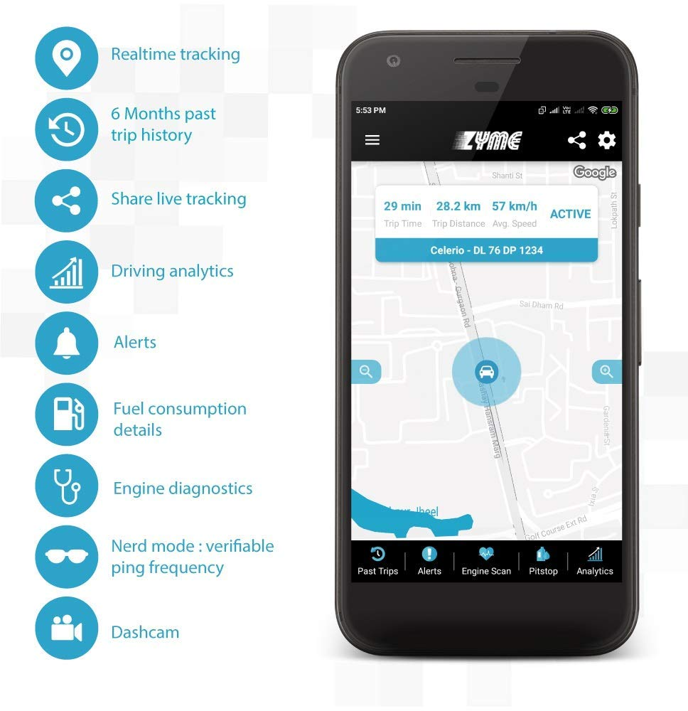 Zyme Pro Best Gps Tracker for Cars In India