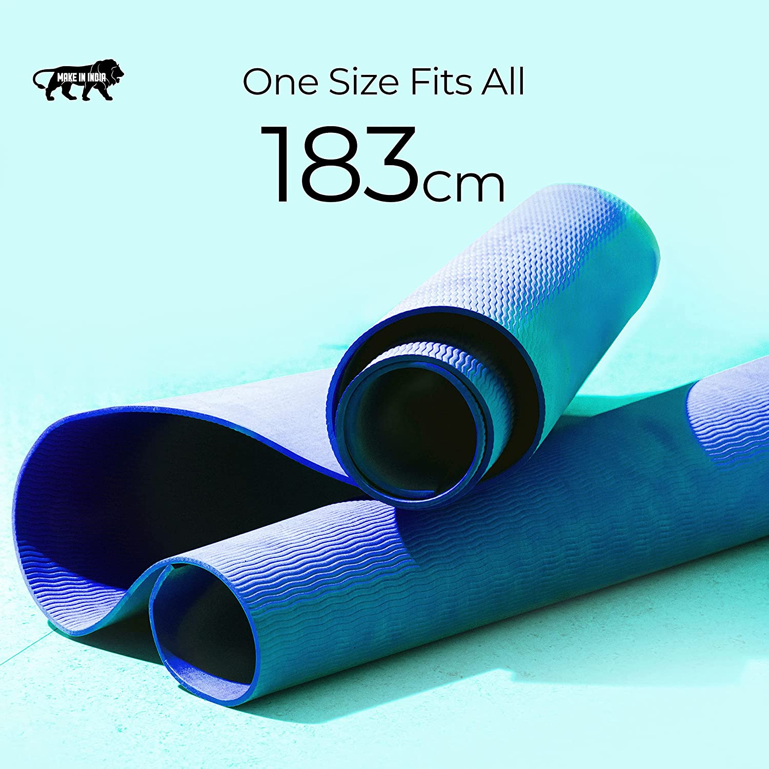Boldfit Yoga mat for Women and Men with Carry Strap